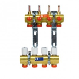 Giacomini Сборный коллекторный узел на 4 контура с расходомерами 1x3/4 E/4