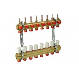 Giacomini Сборный коллекторный узел на 8 контуров с расходомерами 1x3/4 E/8