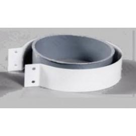 Хомут стальной с резиновой муфтой D100 для турбо котлов Baxi Vaillant Protherm