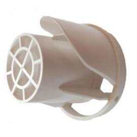 Наконечник на коаксиальную горизонтальную трубу (дымоход) D100 пластиковый