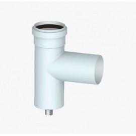 Конденсатосборник угловой D80 Т-образный для слива конденсата