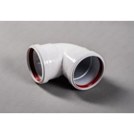 Угол (колено) мама/мама отвод 90гр. D80 раздельной системы дымоудаления