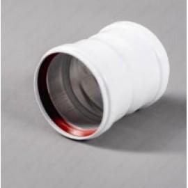Муфта мама/мама D80 (100мм) раздельной системы дымоудаления